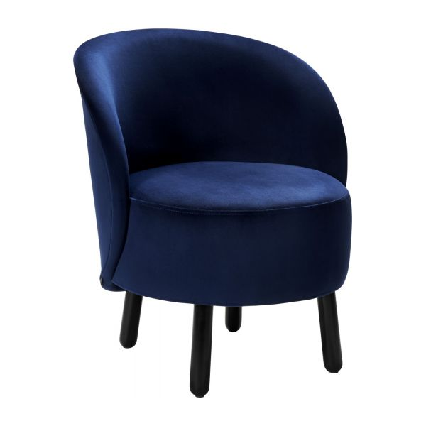 bold fauteuil en velours habitat. Black Bedroom Furniture Sets. Home Design Ideas