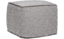 iaman plaid 130x170cm motifs noirs et blancs habitat. Black Bedroom Furniture Sets. Home Design Ideas