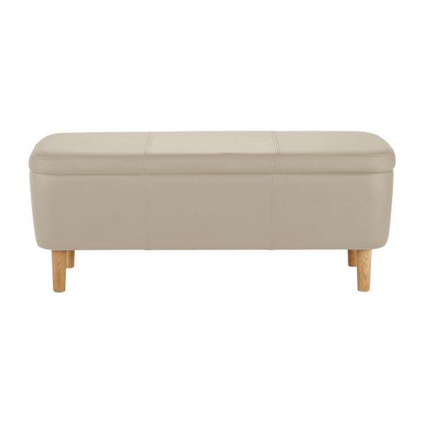 jacobs banc en simili cuir avec rangement habitat. Black Bedroom Furniture Sets. Home Design Ideas