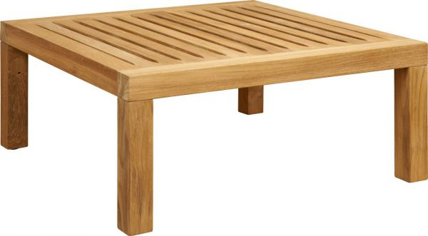 Tiek - Table Basse de Jardin en Teck - Naturel - 70x70 cm - Habitat